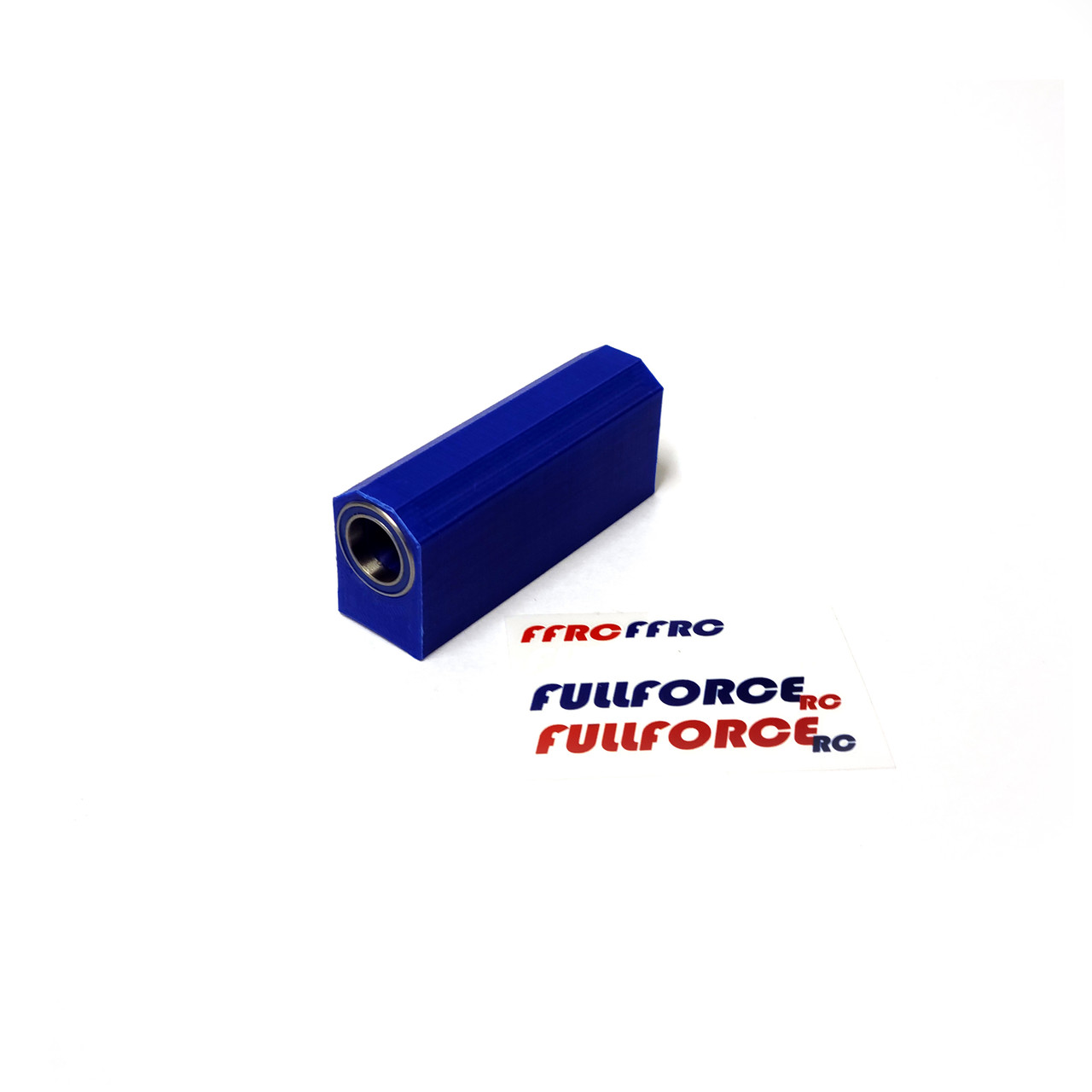 Traxxas X-MAXX Center driveshaft Basher Block with bearings in BLUE ABS.