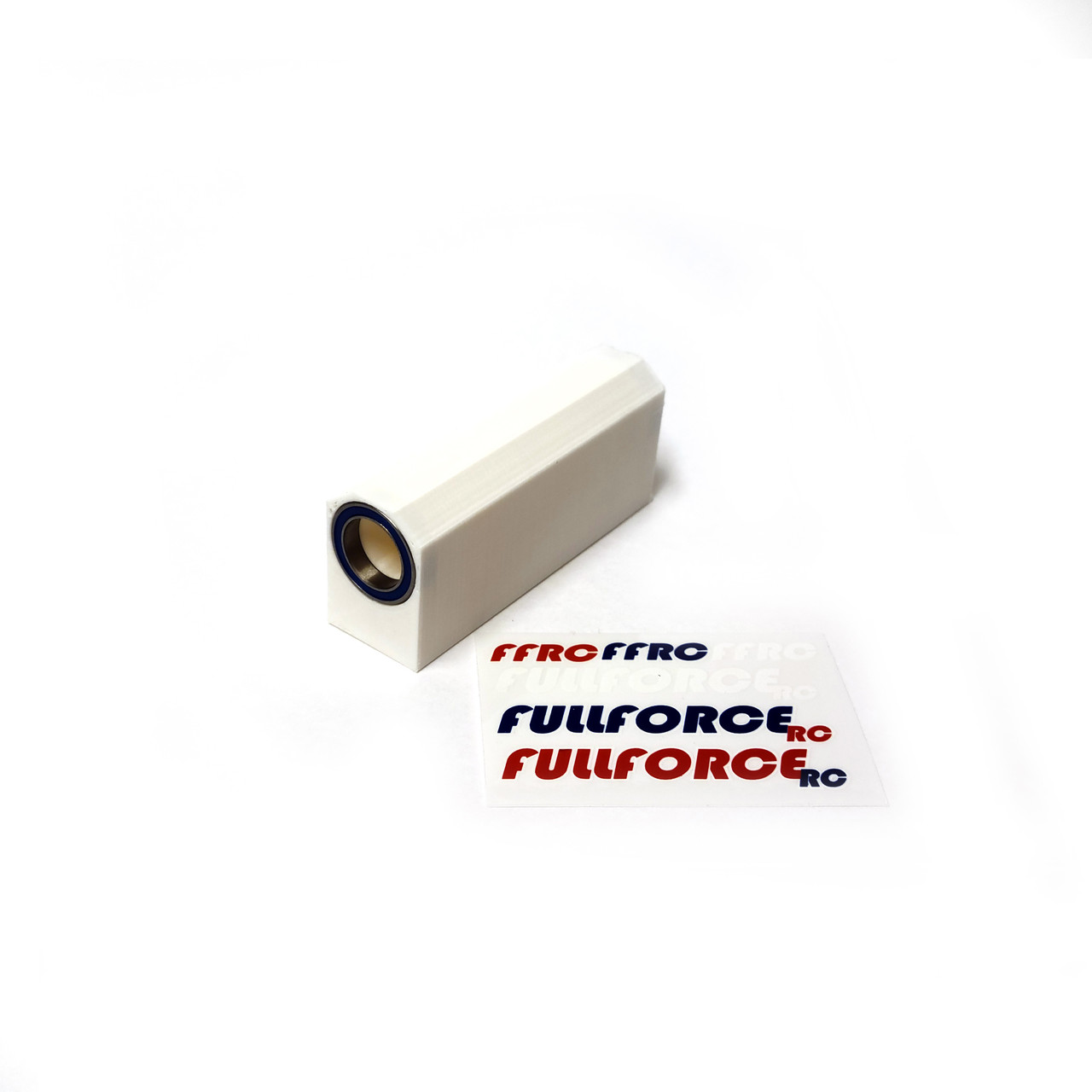 Traxxas X-MAXX Center driveshaft Basher Block with bearings in WHITE ABS.