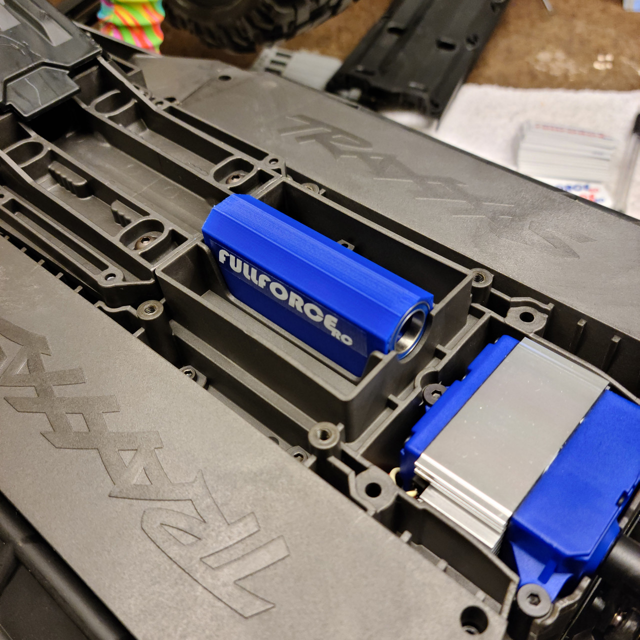 Pop the Fullforce RC ABS brace right into the stock X-MAXX Chassis.