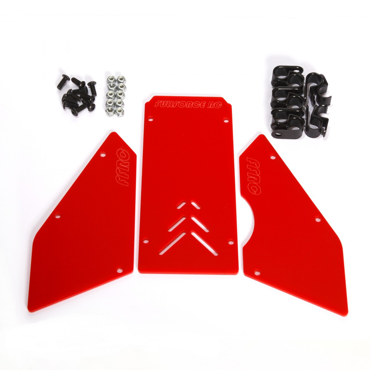 HPI Baja 3 piece windows available in Solid Red!  Complete with install hardware.