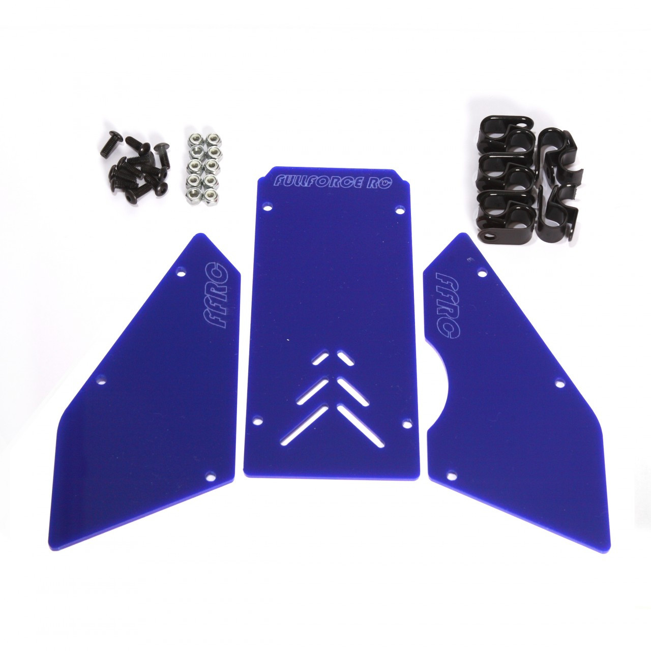 HPI Baja 3 piece windows available in Solid Blue!  Complete with install hardware.