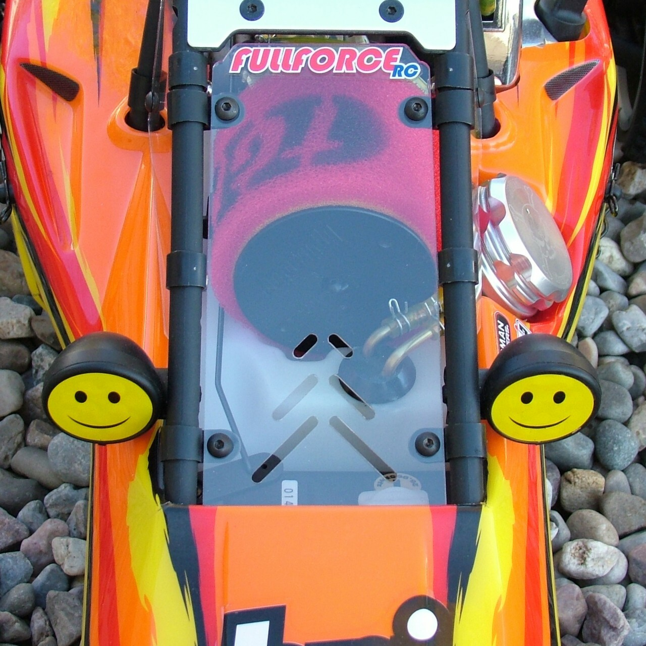 HPI Baja 3 piece clear windows shown installed on a stock RTR truck!