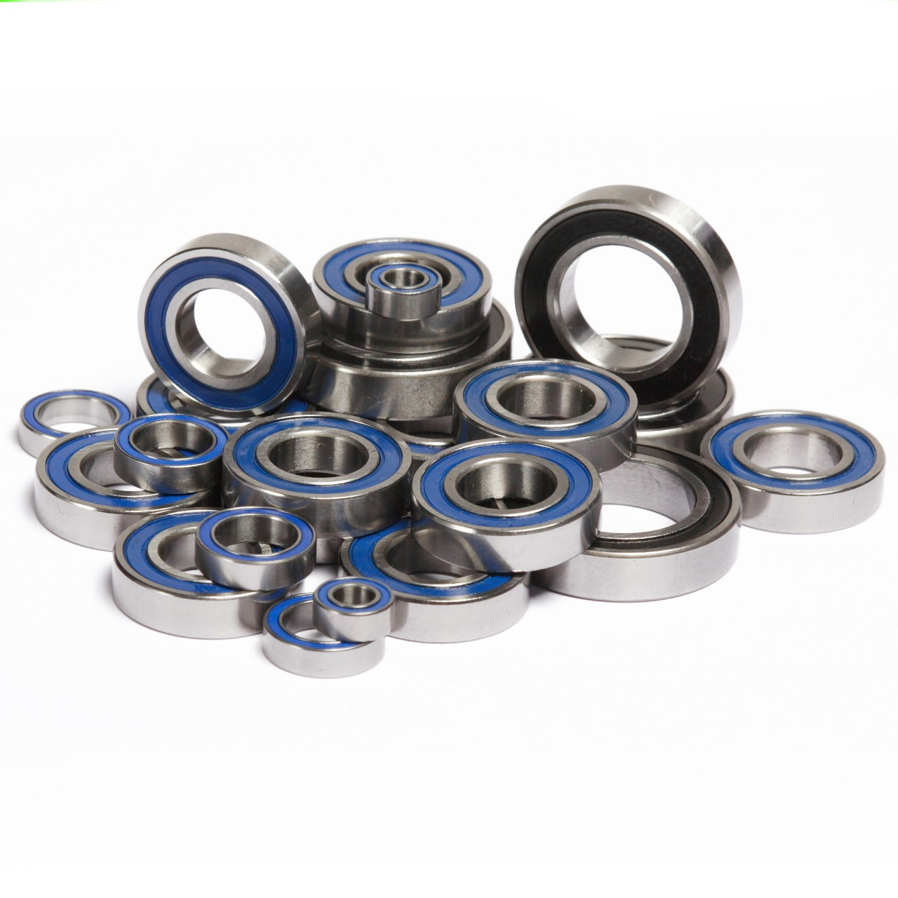 HPI Baja 5B 5T and 5SC complete rubber sealed bearing kit.  Comes with a full 26 pieces and replaces all bearings on your truck.