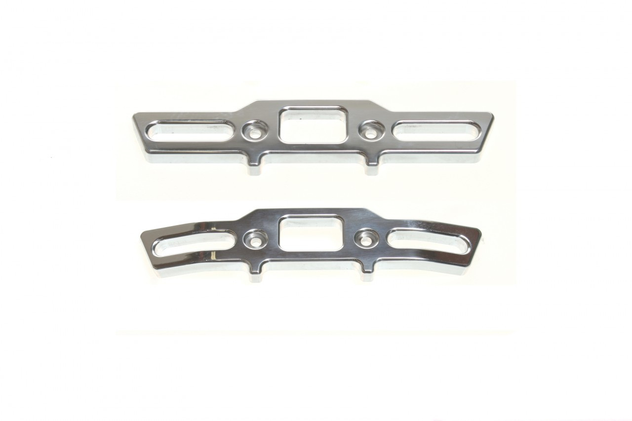 Traxxas Revo front and rear Aluminum Bumpers!  Polished and ready to shine!
