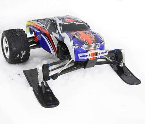 Traxxas Revo winter ski kit!  Also fits the Traxxas T-MAXX, E-MAXX, SportMAXX, Slayer.  Can also be made to fit other trucks with slight modifications.   See description.