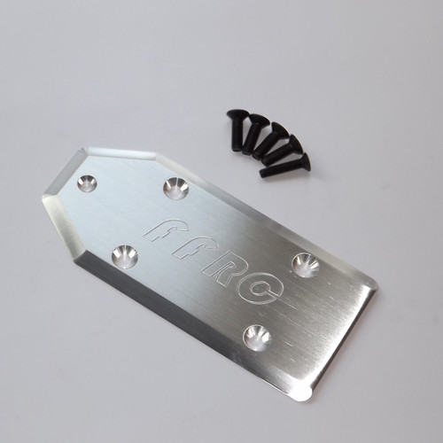Losi 5ive-T Aluminum skid plate with install hardware.