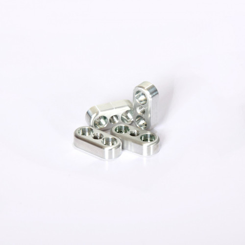Team Losi 5ive-T Aluminum swaybar clamps sold in sets of four.