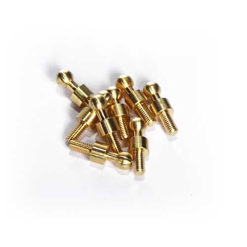 Extended brass ballstuds for use with RC18 aluminum shock towers by Fullforce RC.  Can also be used on a variety of other vehicles.