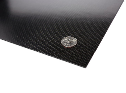"Carbon fiber panel measures 4.25x11.875"" 2.0mm.  This sheet is the perfect size for a custom 1/10th scale chassis or a rigid upper deck.  Can also be used for custom shock towers and many other parts."