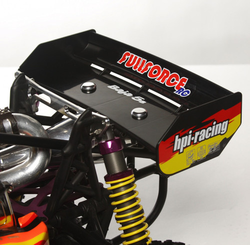 Shown mounted on the RTR HPI Baja 5B.