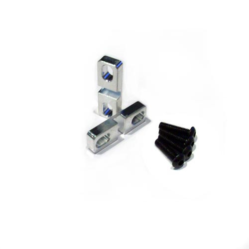 HPI Baja series aluminum steering servo clamps.  These little clamps fit on top of your servo tabs and add much needed support.