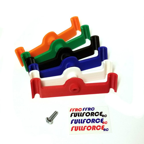 Traxxas X-MAXX GoPro mount by Fullforce RC.  3D printed from ABS plastic.  Available in Red, White, Blue, Black, Green and Orange.