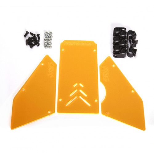 HPI Baja 3 piece windows available in transparent Orange!  Complete with install hardware.
