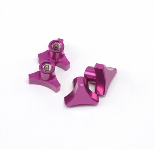 Traxxas T-MAXX E-MAXX 3 Spoke Purple Anodized locking hub nuts.  Get rid of those stock 5mm lock nuts and pop some of these in there!
