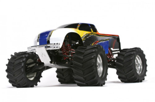 Fits the Traxxas T-MAXX 2.5, TRX 15, Sportmaxx.  Not for use with the 3.3 or Electric trucks.