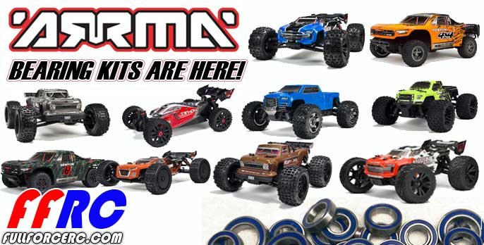ARRMA Bearing kits by Fullforce RC!  Great price and ready to ship!