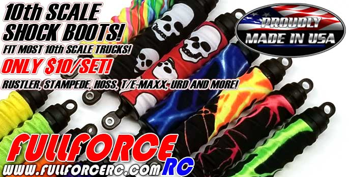 Fullforce RC 10th Scale Shock Boots!  Only $10/set