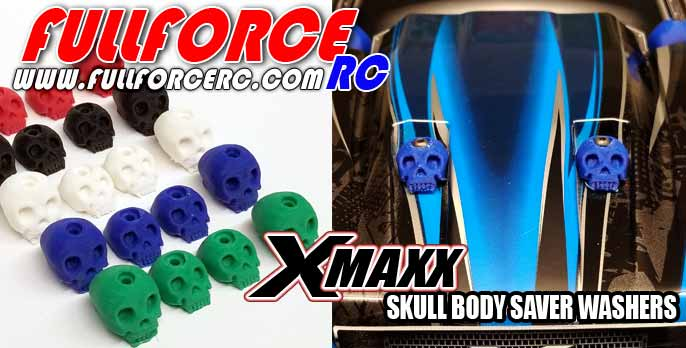 Traxxas X-MAXX Custom Skull Body washers (4) by Fullforce RC