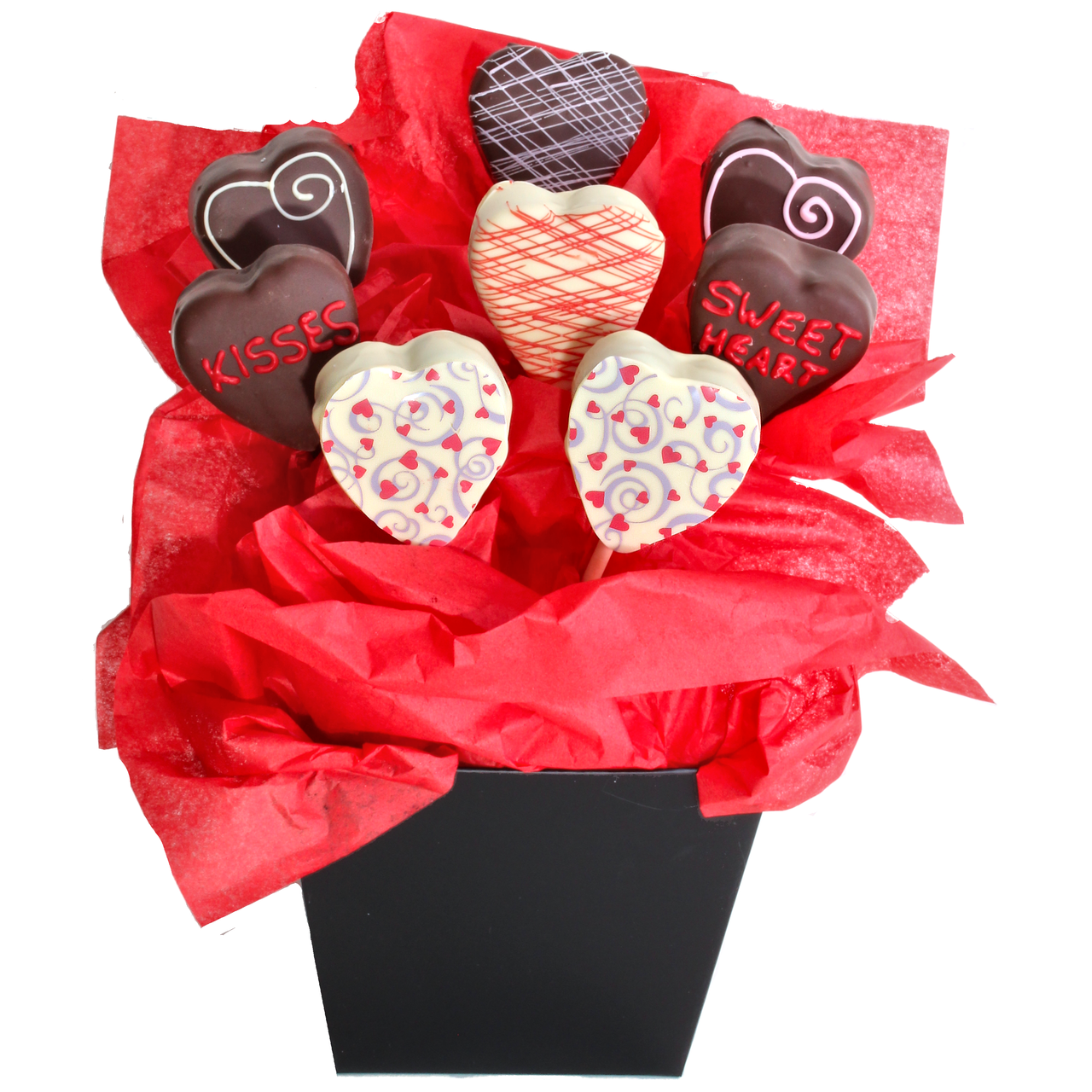 Sweetheart Giant Cake Pop Bouquet Chip N Dipped Chocolatier