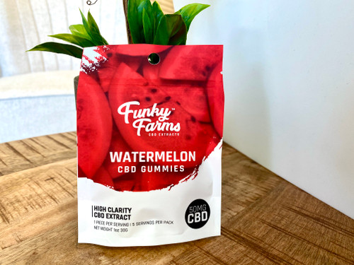 Funky Farms Watermelon 50mg Gummies 5 Ct