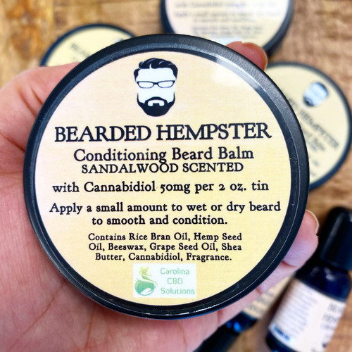Carolina Bearded Hempster Sandlewood 50mg 2 Oz Cond Balm THC FREE