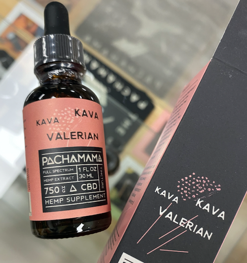 Kava Kava Valerian cbd oil pachamama