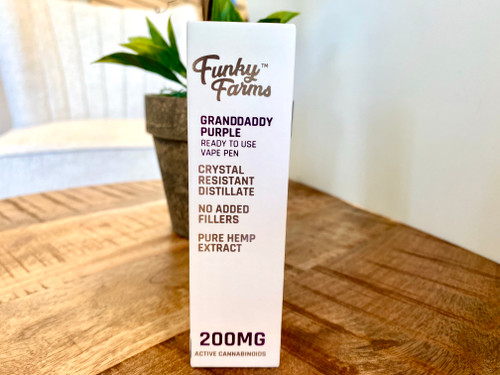 cbd vape, funky farms vape, grandaddy purple, grandaddy purple vape