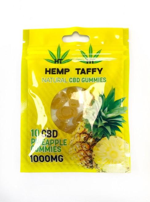 Hemp Taffy CBD Gummies 1000 MG Pineapple