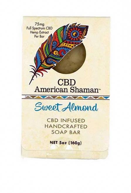 American Shaman CBD Bar Soap Sweet Almond 75 Mg Full Spectrum