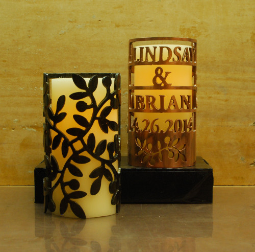 Custom Wedding Vines - Metal Candle Holder Luminary