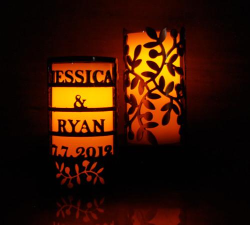 Custom Wedding Vines - Metal Candle Holder Luminary