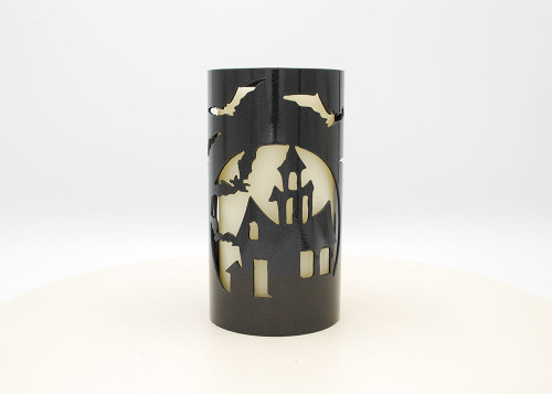 Haunted House - Metal Candle Holder Luminary