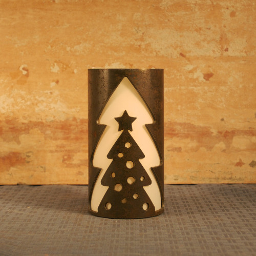 Tree in a Tree - Metal Candle Holder Luminary