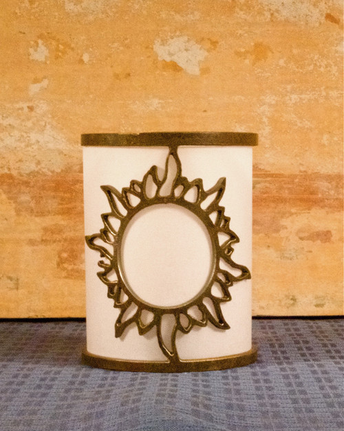 Shining Sun - Metal Candle Holder Luminary