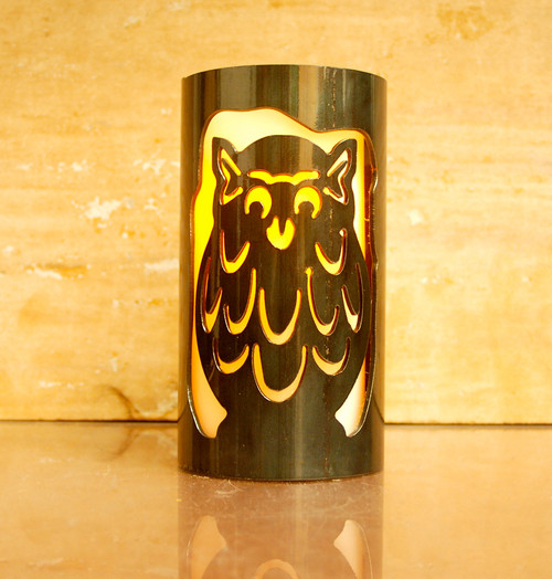 Owls - Metal Candle Holder Luminary