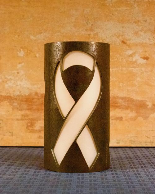 Ribbon (Awareness) - Metal Candle Holder Luminary