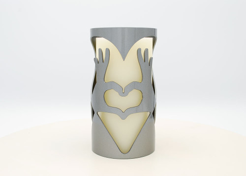 Heart Hands - Metal Candle Holder Luminary