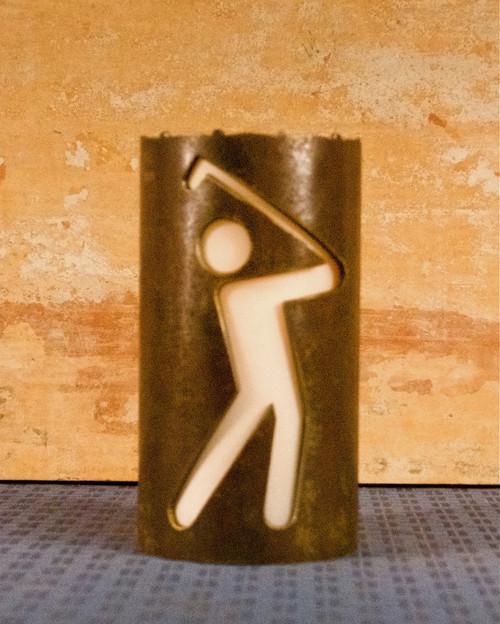 Golf Stick Figures - Metal Candle Holder Luminary