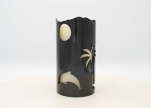 Ocean Scene (negative) - Metal Candle Holder Luminary
