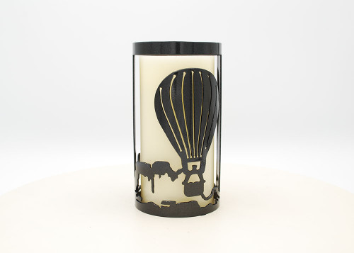 Balloon w/Mountains - Metal Candle Holder Luminary