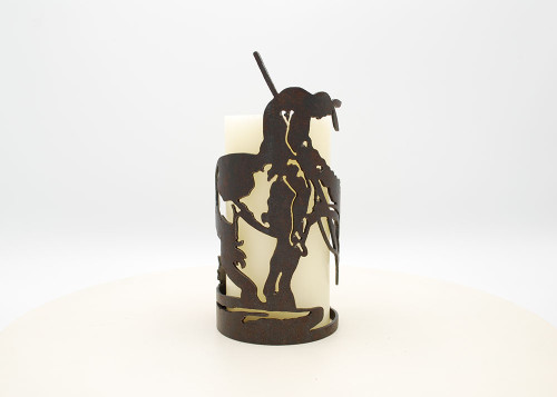 End of Trail - Metal Candle Holder Luminary