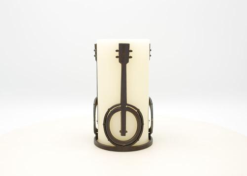 Banjo - Metal Candle Holder Luminary