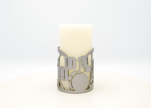 Drum Set - Metal Candle Holder Luminary