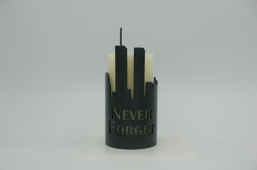911 Memorial / NY Skyline- Metal Candle Holder Luminary