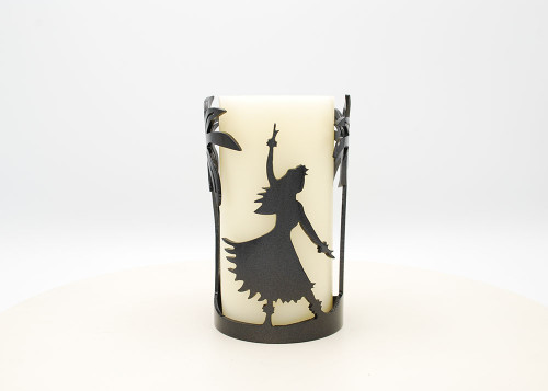 Hula Palm Tree - Metal Candle Holder Luminary