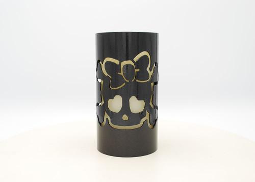 Girl Skull - Metal Candle Holder Luminary