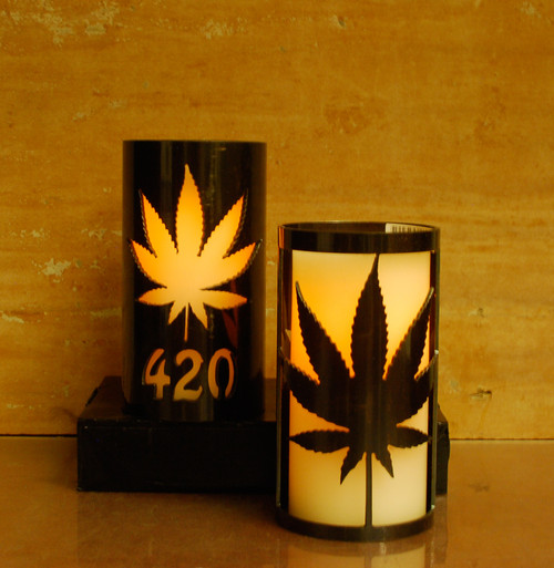 420 Leaf - Metal Candle Holder Luminary