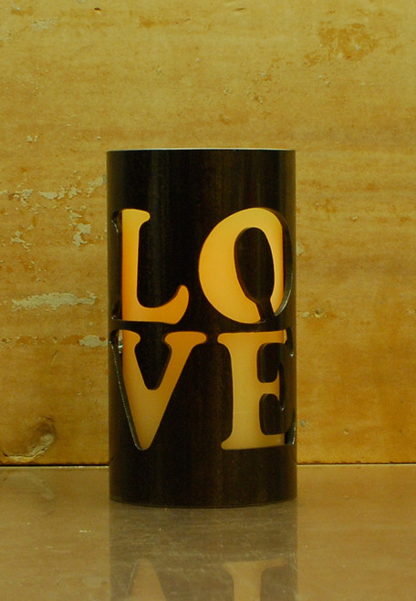 Love Stack (-)- Metal Candle Holder Luminary