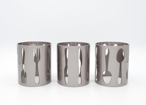 Utensil Metal Holder Set