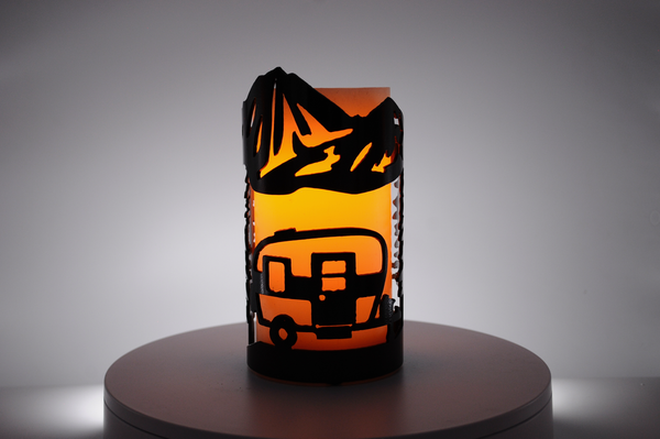 Camper - Metal Candle Holder Luminary